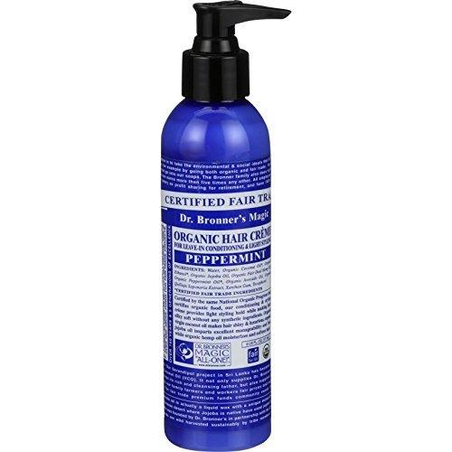 Hair Creme, Organic, Peppermint, 6 oz ( Multi-Pack)