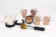 Mineral Makeup XXL KIT w/ FLAWLESS FACE BRUSH Full Size Set Sheer Bare Skin Powder Cover (Ebony)