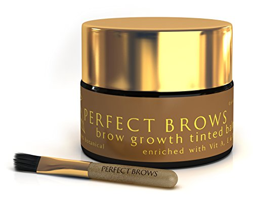 Perfect Brows Styling Primer Pomade & Brow Growth Balm with Mini-Brush O.6 oz/18 ml Chocolate Brown/Brunette