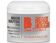 Beaux Noggins SCULPTING CLAY – Styling Clay For Hair with Bentonite & Beeswax – Adds Body & Texture – Makes Hair Feel Thicker – Soft Hold & Flexibility – Light Formula Absorbs Quickly – No Sticky Mess