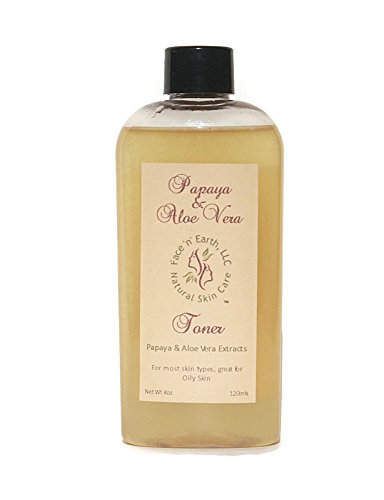 Papaya Enzyme & Organic Aloe Vera Facial Toner – Oily Skin – Vegan – Chemical Fragrance & Alcohol Free
