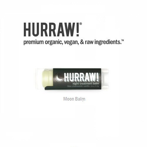 2-Pack Hurraw! All Natural Lip Balm Night Treatment (Moon)