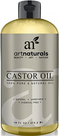 Art Naturals 100% Pure Castor Oil 16 oz – Best Massage Oil & Moisturizer for Hair and Skin