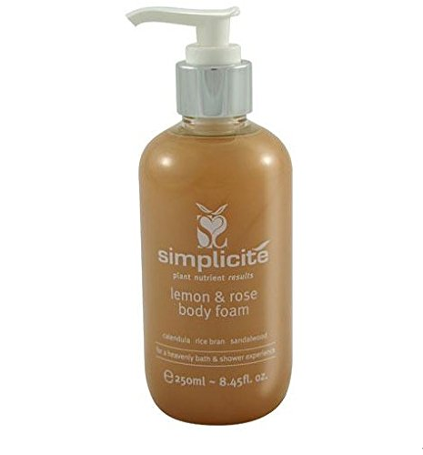 Simplicite Lemon Rose Body Foam 250ml Australian-certified Organic 100% Natural Chemical-free