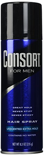 Consort unscented extra hold hair spray, 8.3oz