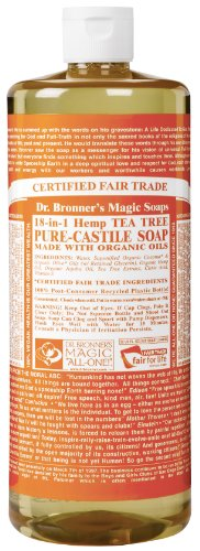 Dr. Bronner's Fair Trade & Organic Castile Liquid Soap – (Tea Tree, 32 oz)