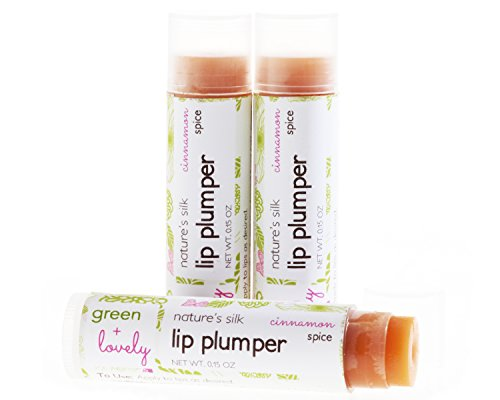 Nature's Silk Lip Plumper. Cinnamon Spice. Tingly. Organic. Lip Butter. Green + Lovely.