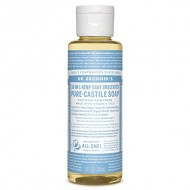 Dr. Bronner's Fair Trade & Organic Castile Liquid Soap – (Baby Unscented, 4 oz)