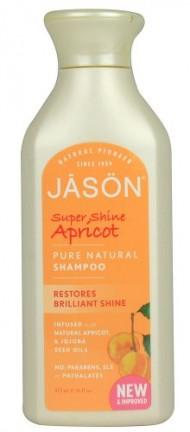JASON Super Shine Apricot Shampoo, 16 Ounce Bottles (Pack of 3)