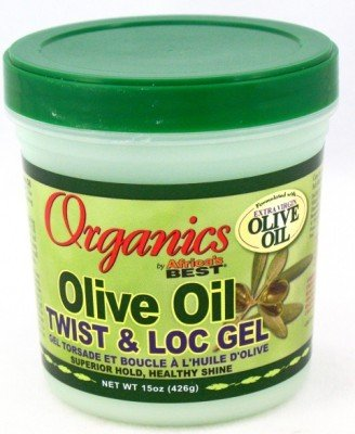 Africas Best Organic Olive Oil Gel Twist & Lock 15 oz. Jar (3-Pack) with Free Nail File