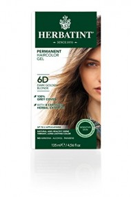 Herbatint Permanent Herbal Haircolor Gel, Dark Golden Blonde 6D, 4.56 Ounce