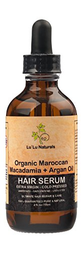 Lu`Lu Naturals Organic Moroccan Hair Serum, 2 oz