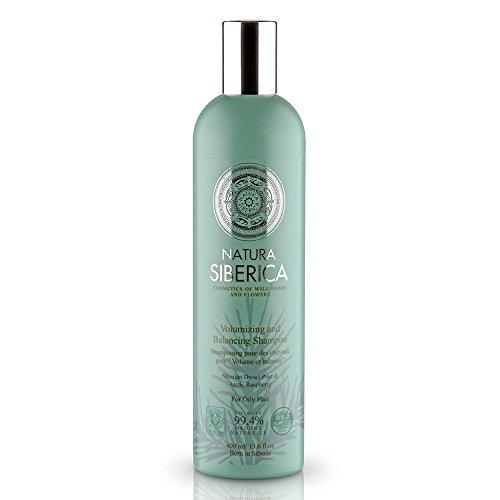 "NATURAL & ORGANIC Hair Shampoo ""Volume & Balance"" for Oily Hair with Pinus Pumila, Arctic Raspberry Seeds, Organic Herb Extracts 400 ml (Natura Siberica)"
