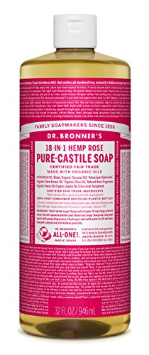 Rose Castile Liquid Soap – 32 oz.