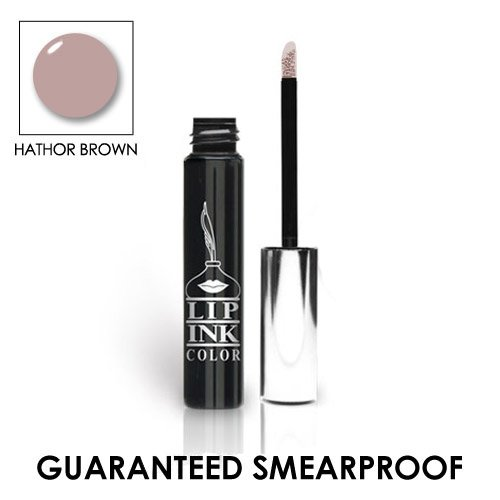 LIP INK Organic Vegan 100% Smearproof Liquid Lip Stain, Hathor Brown