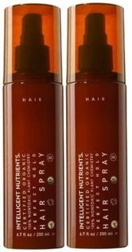 Intelligent Nutrients Certified Organic Perfect Hold Hair Spray (6.7 fl oz/200 ml) Each Bottle (Qty, Of 2 Bottles)