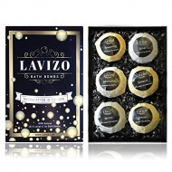 Premium Bath Bomb Gift Set by Lavizo – 6 Giant 6.1oz Fizzies – Lush, Moisturizing & Luxurious – Organic & Natural Ingredients – X-Large Essential Oil Spa Balls – Perfect Mother's Day Gift Idea