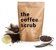The Coffee Scrub – Enriched with Antioxidants, Minerals, and Essential Oils (7 Ounce) (French Vanilla)