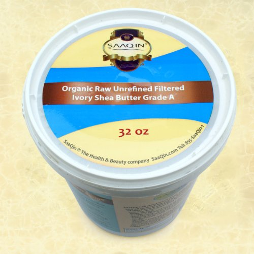 Authentic Organic IVORY Shea Butter FILTERED & CREAMY 32 Oz – The Highest Quality Butter (Pack of 3)