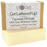 Certified Organic COCONUT OIL Soap – 100% Pure, All Natural, Aromatherapy Herbal Bar Soap – 4oz