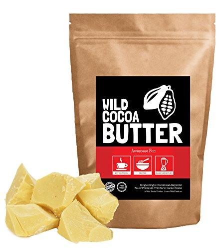 Raw Organic Cocoa Butter, Wild Cocoa Butter, 100% Organic, Single-Origin, Unrefined, Non-Deodorized, Food Grade (4 ounce)