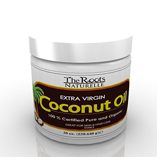 Coconut Oil – Extra Virgin 100% Certified Pure and Organic. For Skin and Hair Care. Extra Large 20oz Jar