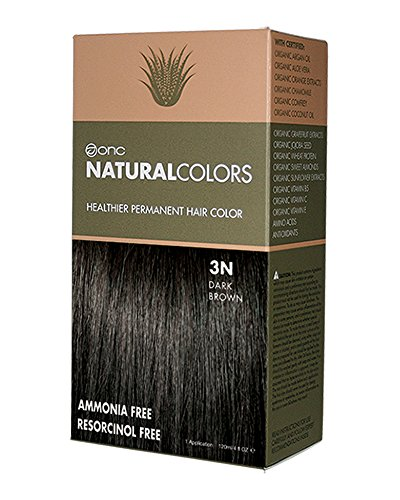 ONC Natural Colors Healthier Permanent Hair Color – 120ml (4oz) | Premium Salon Quality – Free of Ammonia, Resorcinol, Parabens and Nonoxynol (3N DARK BROWN)