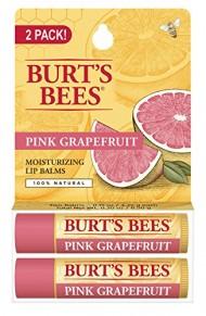 Burt's Bees 100% Natural Lip Balm, Pink Grapefruit Blister Pack, 0.3 Ounce, 2 Count