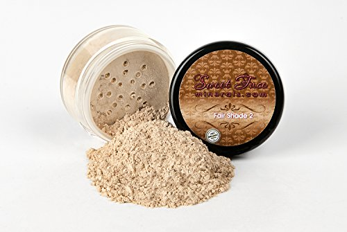 FAIR 2 FOUNDATION by Sweet Face Minerals Sample to Bulk Sizes Mineral Makeup Bare Skin Sheer Powder Cover (30 Gram Jar)