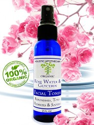 ORGANIC Rose Hydrosol (Rosewater) & Glycerin Mist Face Toner Anti Age Regenerating Natural Hydrator