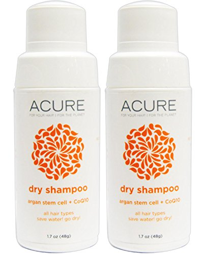 Acure Organics Argan Stem Cell and CoQ10 Dry Shampoo Powder, Pack of 2