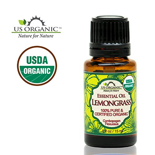 US Organic 100% Pure Lemongrass Essential Oil – USDA Certified Organic – 15 ml