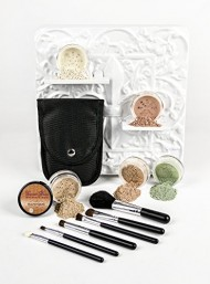 Mineral Makeup 5 pc KIT w/ BRUSH SET Foundation Full Size Sheer Powder Bare Skin Cover (Light)