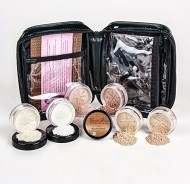 Mineral Makeup XXL KIT w/ COSMETIC CASE Full Size Set Sheer Bare Skin Powder Cover (Beige)