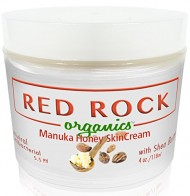 Red Rock Organics Aloe Vera Skin Repair Cream Shea Butter, Manuka Honey, Coconut Oil, Cocoa Butter 4oz
