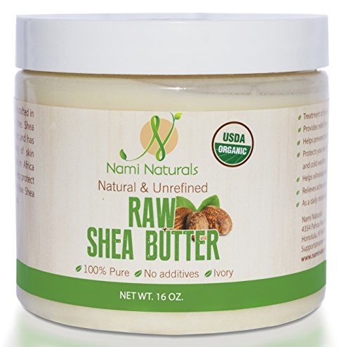USDA Organic Shea Butter – Bonus E-book – Great Whipped, As Lotion, & Cream – Use On Stretch Marks, Fine Lines, Irritated Skin – Moisturizer For Dry Hair – Safe On Sensitive Skin