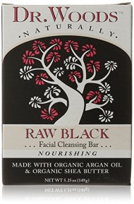 Dr. Woods Facial Cleansing Bar Soap with Organic Shea Butter, Raw Black, 5.25 Ounce