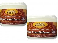Simply Shea Deep Conditioner & Co-Wash with Organic Shea Butter 2 Pack Multi-Pack, 6 Oz. Each (12 Oz. Total)