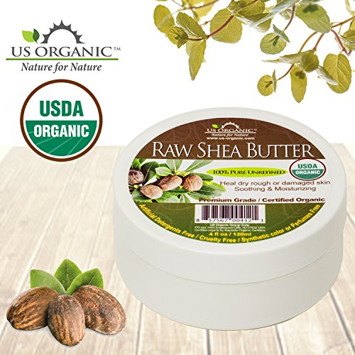 #1 Organic Shea Butter Virgin ★African Raw Unrefined ★Certified Organic by USDA ★100% Pure & Natural ★Highest Quality Shea Butter ★Excellent DIY Recipe ingredient ★ Great for Daily Moisturizer ★ 4 oz