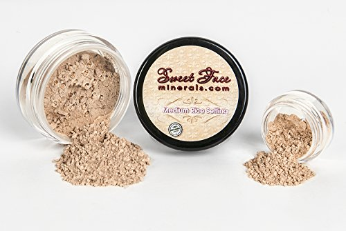 Medium RICE SETTING POWDER *Choose your Size* Mineral Makeup Matte Bare Skin Concealer Loose Powder Full Coverage (20 gram Sifter Jar)