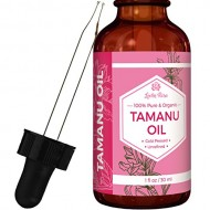Leven Rose Tamanu Oil – 100% Pure, Organic, Unrefined, Cold-Pressed Tamanu Oil For Hair, Skin, Nails, Acne, Scars – 1 Oz In Dark Amber Glass Bottle with Glass Dropper – 100%