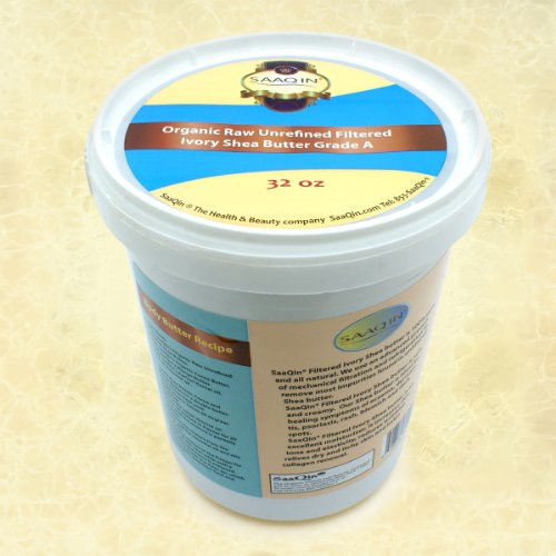 Authentic Organic IVORY Shea Butter FILTERED & CREAMY 32 Oz – The Highest Quality Butter