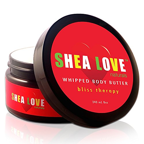 SHEA LOVE Naturals -The Best Organic Body Butter 8 Oz – Organic Shea Butter, Organic Coconut Oil, Organic Aloe Vera Gel, Organic Jojoba Oil, Anti-Aging Essential Oils – Give Your Skin Some Love!