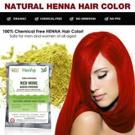 Allin Exporters Red Wine Henna Hair Color – 100% Organic and Chemical Free Henna for Hair Color Hair Care – ( 120 Gram = 2 Packet)