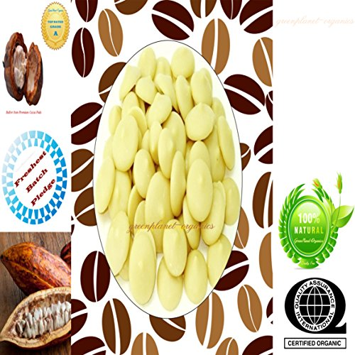 Certified Organic Edible Cacao Butter Melts (Delicious Chocolate Aroma & Smooth Texture) (1 LB)